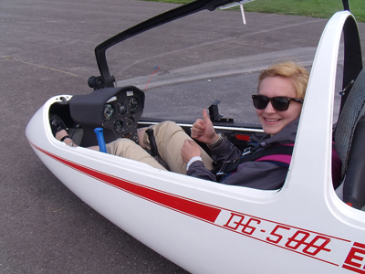 NMC Flight Instructor Abigail Smelzer as a student on a 2011 trip to the UK.