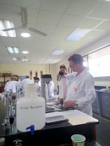 Soil and water analysis lab at EARTH University